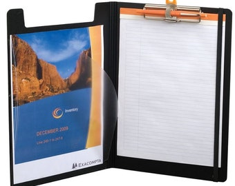 Exacompta Exactive Filing Clipboard 9 1/4 x 13 1/4 Black with Rhodia Paper Tablet