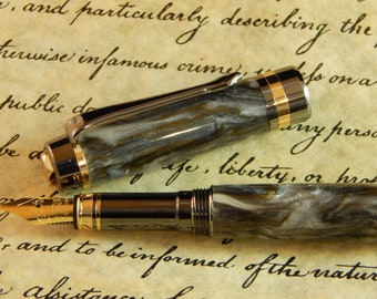 Classic Elite Fountain Pen with Yukon Acrylic - Free Shipping #FP10247