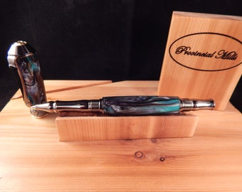 Nouveau Sceptre Rollerball with Midnight Mist Acrylic #RB3062