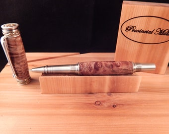 Majestic Jr. Rollerball with Maple Burl #RB3075