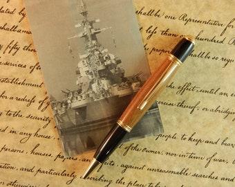 Limited Edition USS North Carolina Battleship Teak Gatsby Ballpoint - Free Shipping  #BS094