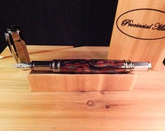 Vertex Fountain Pen with Scarlet Fusion Acrylic #FP10180