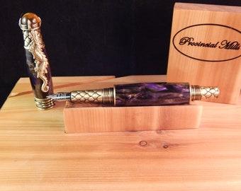 Purple Amethyst Dragon Fountain Pen #FP10174