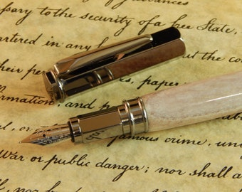Vertex Fountain Pen with Deer Antler - Free Shipping - Free Shipping #FP10159