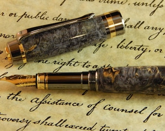 Classic Elite Fountain Pen with Dyed Box Elder - Free Shipping#FP10243