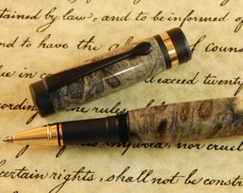 Classic Rollerball Pen with Buckeye Burl - Free Shipping #RB3003