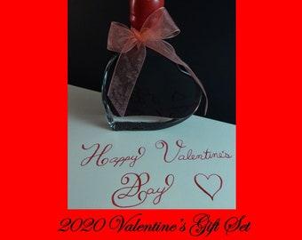 Valentine's Ink 2020 Forget Me Not - Rouge Opera Ink in a Heart Shaped Bottle - J. Herbin Ink