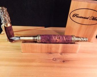 Victorian Fountain Pen with Dyed Maple #FP10116