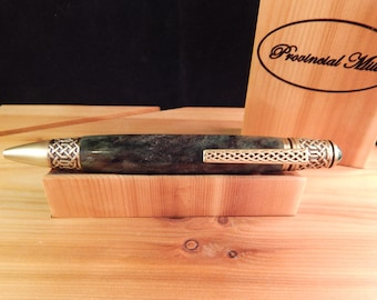 Celtic Twist Ballpoint Pen with Dyed Maple Burl #BP00385
