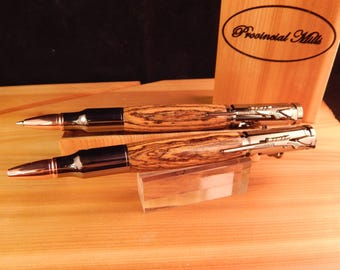 Sale *** Bolt Action .30 Caliber Ballpoint Pen and Pencil Set with Bocote #GS008