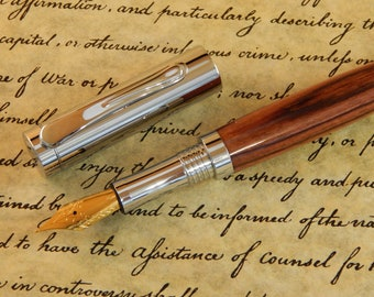 Presidential Fountain Pen with Kingwood - Free Shipping #FP10206