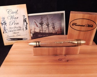 Civil War Ballpoint with Limited Edition Colonial Shipyard Oak #BP00360