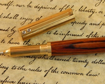 RAW Stainless Steel Rollerball Pen with Cocobolo - Free Shipping #RB3151