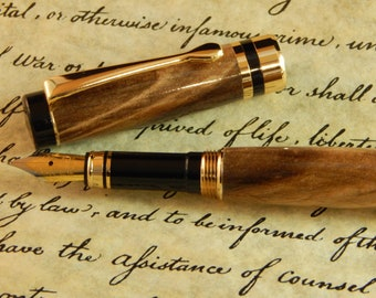 Classic Fountain Pen with Ambrosia Maple - Free Shipping #FP10237