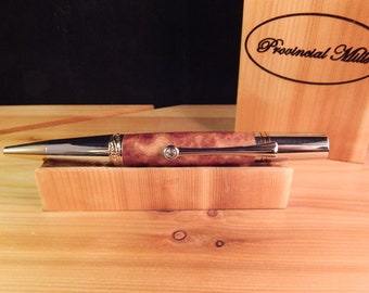 Majestic Squire Ballpoint with Red Mallee Burl #BP00390 Exhibition Collection