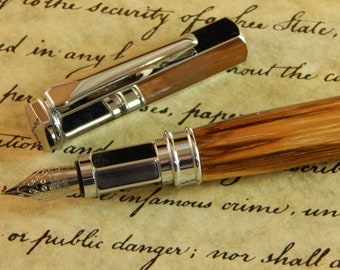 Vertex Fountain Pen with Marblewood - Free Shipping #FP10165