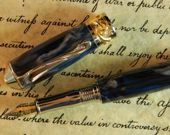 Nouveau Sceptre Fountain Pen with Raging Tempest Acrylic - Free Shipping #FP10191