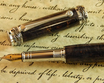 Majestic Jr. Fountain Pen with Black Dyed Maple - Free Shipping #FP10134