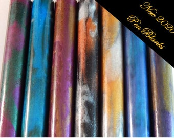 "New 2020 Pen Blanks *** Acrylic Pen Blanks 5"" length x 3/4"" round (Group 10)"