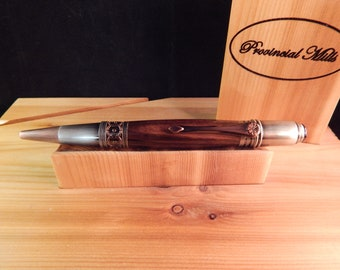 Art Deco Ballpoint with Macassar Ebony #BP00396