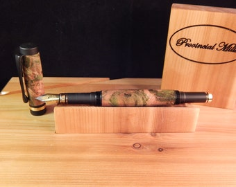 Classic Fountain Pen with Dyed Maple #FP10242
