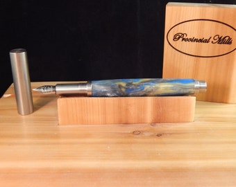 RAW 303 Stainless Steel Fountain Pen with Avalon Acrylic  #FP10297