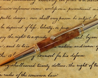 Majestic Squire Ballpoint with Red Mallee Burl - Free Shipping #BP00390