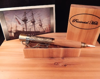 American Pride Lever Action Ballpoint with Limited Edition Colonial Shipyard Oak #BP00332