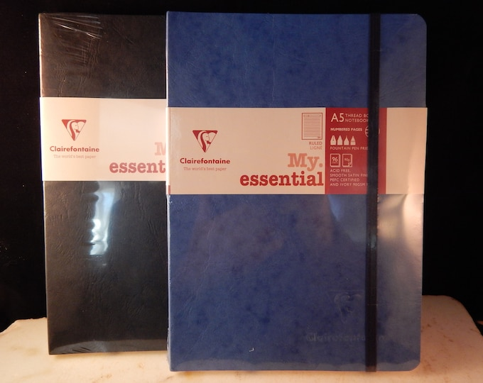 Featured listing image: Clairefontaine My Essential Bound Paginated Notebook 6 x 8 1/4, 96 Sheets Lined""