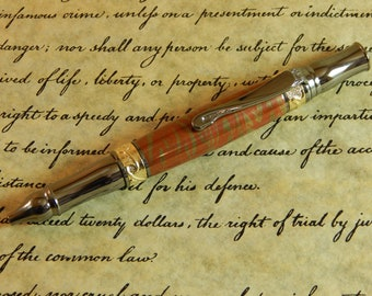 Nouveau Sceptre Ballpoint with Red and Gold Copper - Free Shipping #ME128