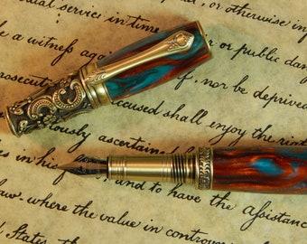 Victorian Fountain Pen - Soul Drachma Acrylic - Free Shipping - #FP10116