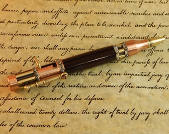 Sale *** Steampunk Bolt Action Ballpoint with African Blackwood - Free Shipping #BP00235