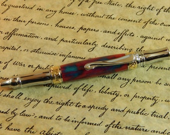 Nouveau Sceptre Ballpoint with Cerulean Blush Acrylic - Free Shipping #BP00274