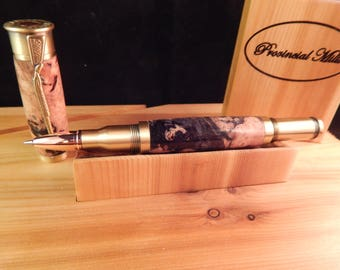 Sale *** Over and Under Shotgun Rollerball with Dyed Maple #RB3147