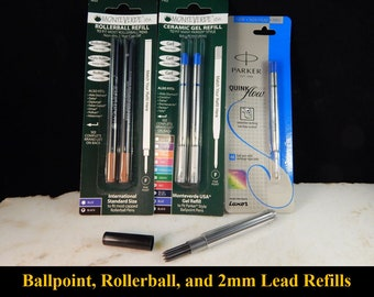Ballpoint Refills, Rollerball Refills, and 2mm Lead Refills