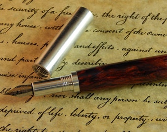 Provincial Aluminum Fountain Pen with Gypsy Breeze Acrylic - Free Shipping #FP10301
