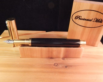 RAW C3604 Brass Fountain Pen with Black Titanium Metal #ME116