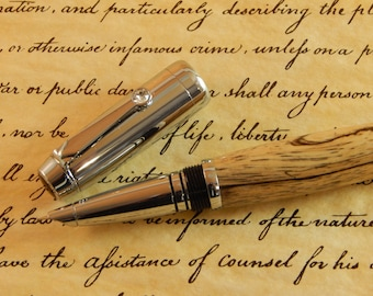 Sale *** Arete Fountain Pen with Spalted Tamarind - Free Shipping #FP10264