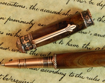 Faith Hope Love Rollerball Pen Crafted from Walnut Wood - Free Shipping #RB3038