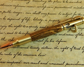 Bolt Action .30 Mechanical Pencil with Bocote Wood - Free Shipping #PC058
