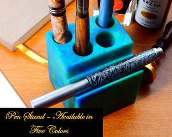 Four Pen Stand - Available in Five Different Colors
