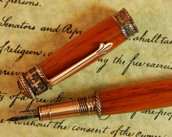 Faith Hope Love Fountain Pen Crafted From Padauk - Free Shipping #FP10251