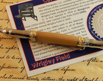 Nouveau Sceptre Ballpoint with  Wrigley Field Wood - Free Shipping #STW209