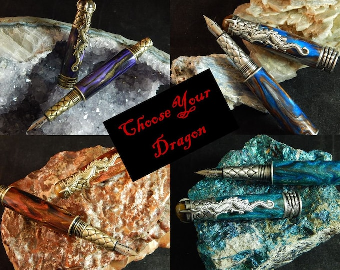 Featured listing image: Dragon Fountain Pen - Choose Your Dragon - Free Shipping