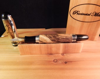 Churchill Foutain Pen with Spalted Tamarind #FP10200