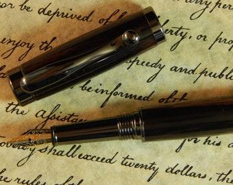 Vellichor Fountain Pen with Macassar Ebony Wood - Free Shipping #FP10102