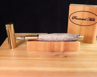 RAW C3604 Brass Fountain Pen with Elk Antler  #FP10296
