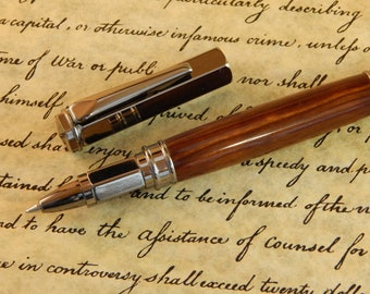 Vertex Rollerball with Lignum Vitae Wood - Free Shipping #RB3025