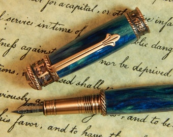 Faith Hope Love Fountain Pen Crafted From Mermaid Acrylic - Free Shipping #FP10254