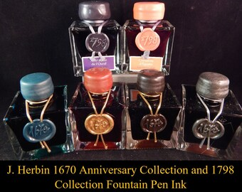J. Herbin 1798 and 1670 Collection Bottled Fountain Pen Ink 50ml